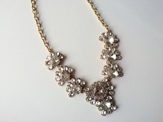 Item - Light Gold Ox Plating New Crystal Cluster Necklace