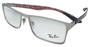 Ray-Ban New RAY-BAN Rx-able Eyeglasses RB 8415 2538 55-17 Matte Silver Frames w/ Carbon Fiber