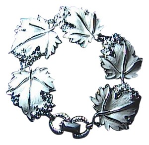 Unknown Stunning Fashion Silver Tone Leaf Bracelet 7