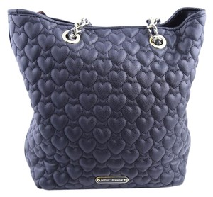 Betsey Johnson Quilted Hearts Tote in Black