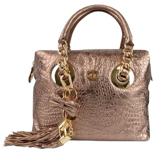 Just Cavalli Satchel in Metalic Gold