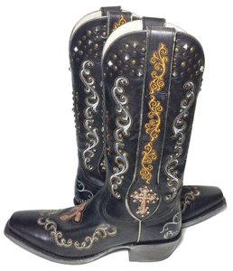 Ariat 10012844 Gilded Gypsy Cowgirl 9 Size 9 Black Boots