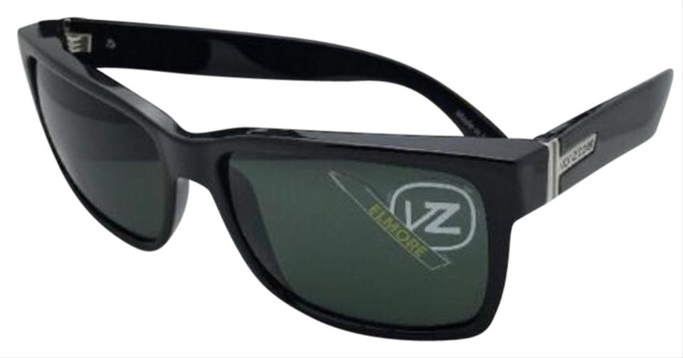 414fbcc558 Von Zipper Authentic VONZIPPER Sunglasses VZ ELMORE Shiny Black frame  w Vintage Grey lenses Image ...