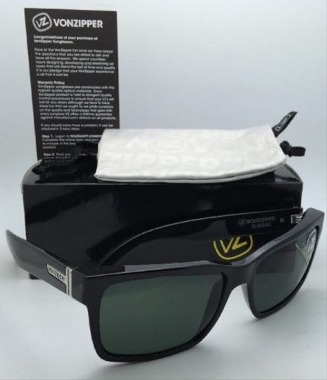 d5952612cc Von Zipper Authentic VONZIPPER Sunglasses VZ ELMORE Shiny Black frame  w Vintage Grey lenses Image