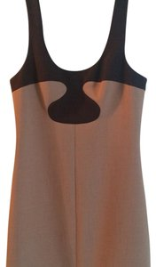 Tory Burch short dress Beige with brown color block detail on Tradesy