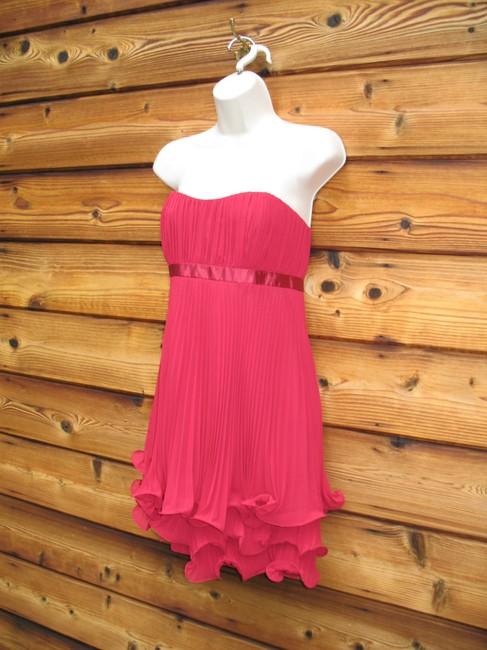 Laundry by Shelli Segal Pleated Mini Strapless Formal Dress