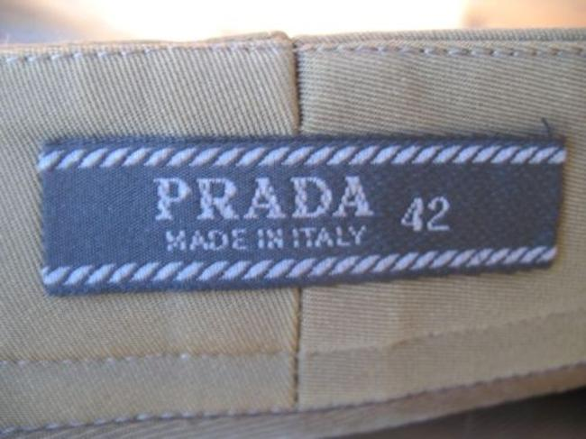 Prada Stretch Slim Straight Pants Olive Green