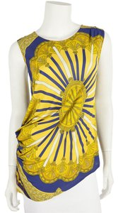 Emilio Pucci Top Blue & Yellow