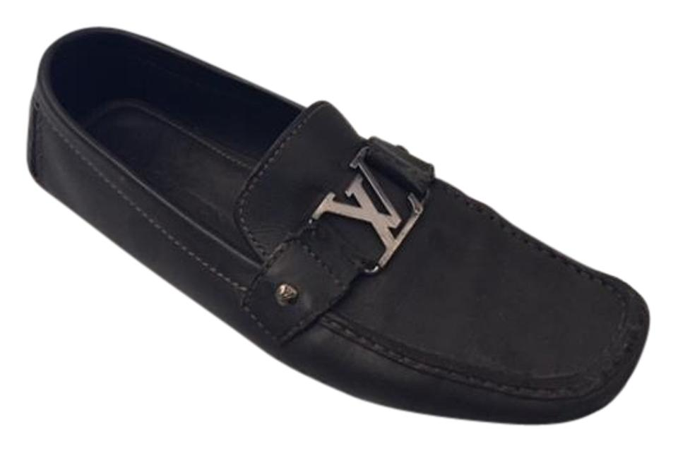 c2edd90c98e4 Louis Vuitton Monte Carlo Driving Loafers Black Leather Flats Image 0 ...