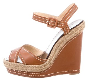 Christian Louboutin Summer Resort Size 36 Sandals Brown Wedges