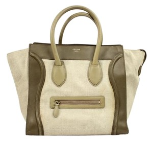 Céline Medium Luggage Mini Luggage Tote in Olive
