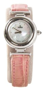 Fendi Orologi Pink Band Women Silver Watch
