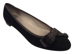 Salvatore Ferragamo Ballet Black & Grey Flats