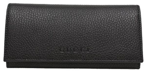 Gucci Gucci Black Leather Continental Flap Wallet 305282
