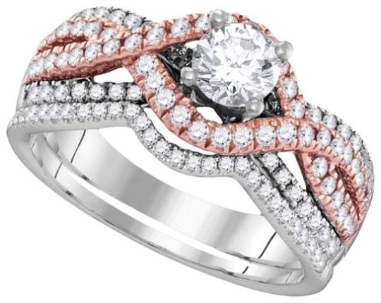White Gold | Rose Gold | Diamond Ladies Luxury Designer 14k 1.01 Cttw Fashion Set Engagement Ring