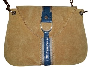 Cole Haan Leather Suede Card Slots Cross Body Bag