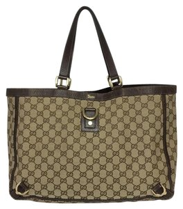 Gucci Tote in Tan And Brown