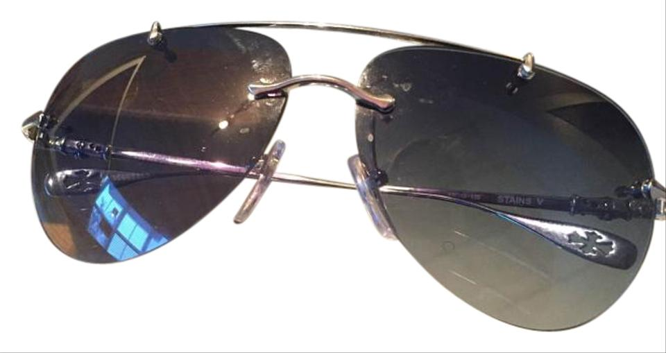25e8af79be4 Chrome Hearts Grey Gradient Stains Iv Ss 64-13 138 Silver Frame ...