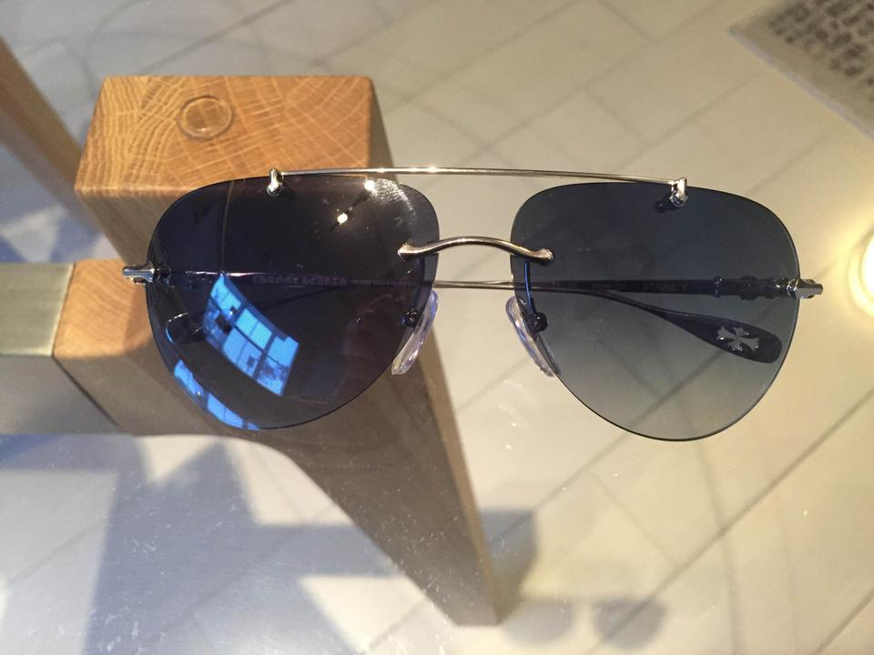 b2a7c2fcabf Chrome Hearts STAINS IV SS 64-13 138 Silver Frame Image 8. 123456789