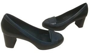 Cole Haan Style Black & Blue leather Loafer Pumps