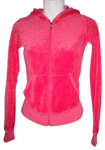 Juicy Couture J Bling Hoodie Velour Azalea Pink Jacket