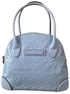 Marc Jacobs Travel Satchel Leather Tote in Baby Blue