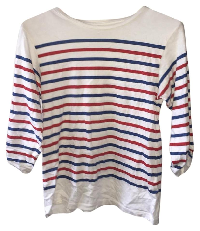 Zara red white blue tee shirt size 4 s tradesy for Red and blue t shirt