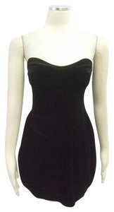 Zara Evening Velvet Strapless Party Dress