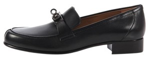 Hermès Black Kelly Buckle Jules Flats