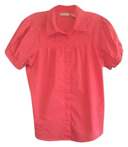 Worthington Button Down Shirt Pink/Coral