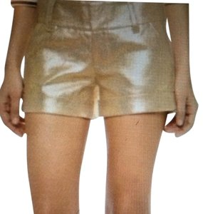 Alice + Olivia Mini/Short Shorts Metallic gold