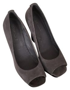 Rosegold Shoes Gray/black Platforms