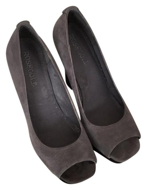 Rosegold Shoes Gray/Black Frankie Peep Toe Platforms Size US 6.5 Regular (M, B) Rosegold Shoes Gray/Black Frankie Peep Toe Platforms Size US 6.5 Regular (M, B) Image 1