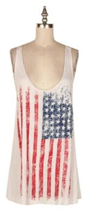 Other 4th Of July Patriotic Racerback Burnout Top Ivory, Red/White/Blue