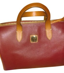 Dooney & Bourke Satchel in Cranberry