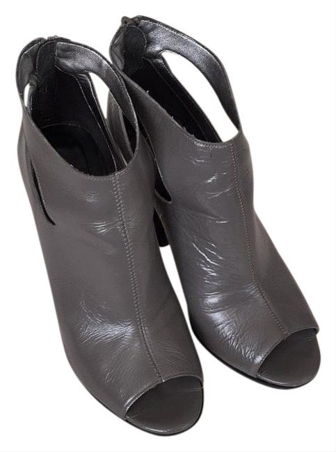 Item - Light Grey Tumbled Pearlize Leather Neely Boots/Booties Size US 6.5 Regular (M, B)