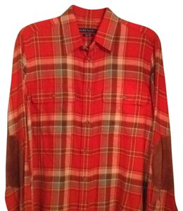 Ralph Lauren Blue Label Button Down Shirt Red plaid