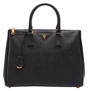 Prada Saffiano Leather Leather Tote in Black