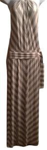 grey and white striped Maxi Dress by Michael Stars