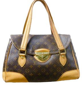 Louis Vuitton Neverfull Keepall Satchel in Brown