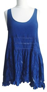 Free People short dress Voile Lace Trapeze Slip on Tradesy
