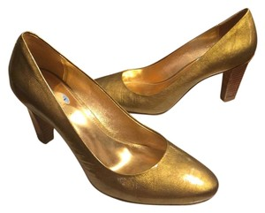 Coach Gold Metallic Pumps