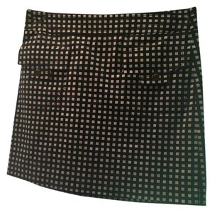 Tory Burch Plaid Front Pockets Skirt Navy White
