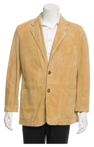 Louis Vuitton Men's Blazer Beige/Tan Leather Jacket
