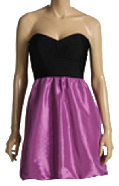 Preload https://item2.tradesy.com/images/laundry-by-shelli-segal-violet-black-satin-party-above-knee-formal-dress-size-2-xs-1692386-0-0.jpg?width=400&height=650