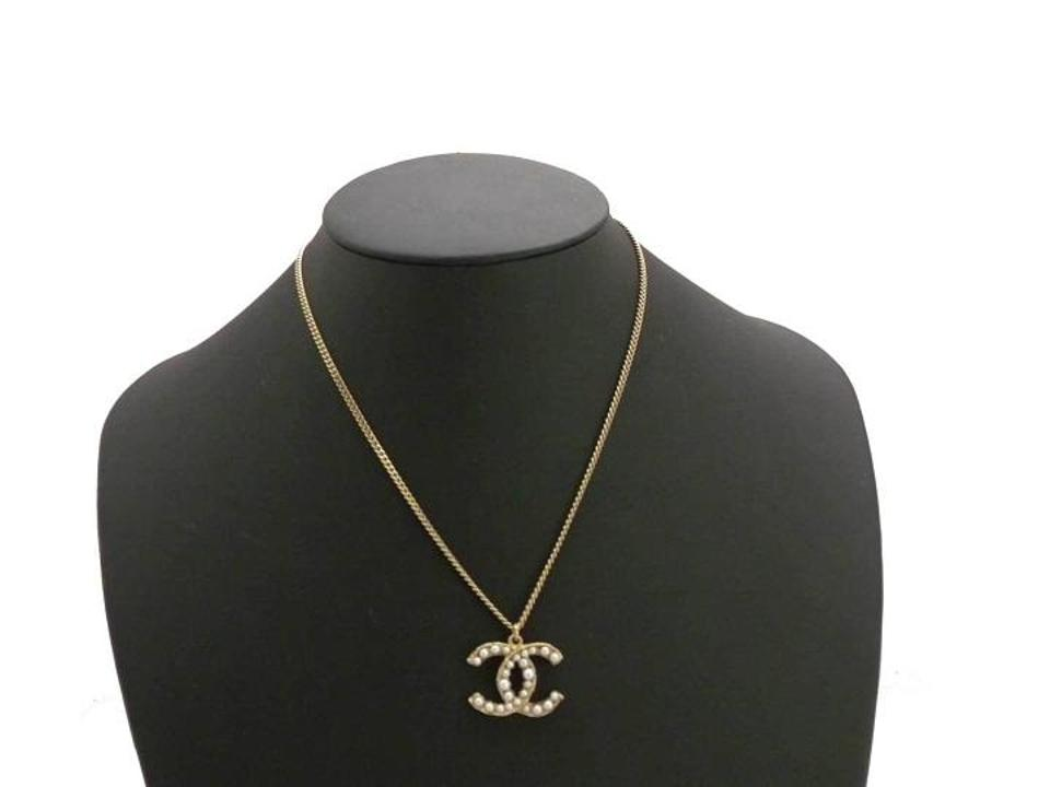 Chanel pearl gold pendant cc logo seed classic charm jumbo 11a xl 123456789101112 aloadofball Image collections