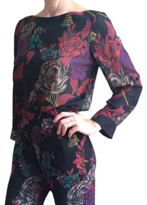 Alice + Olivia Alice+olivia Aliceandolivia Sidrolledsleevetop Top Tapestry Floral
