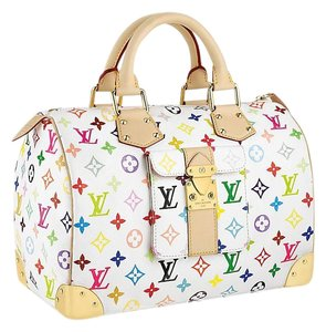 Louis Vuitton Satchel in White Multicolore