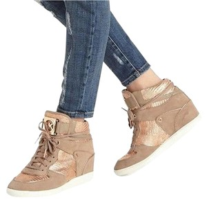 Michael Kors Wedged Trainer Gold Wedges