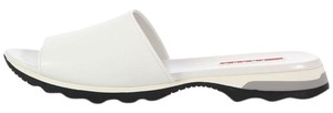 Prada White Leather Slide Sandal Sandals